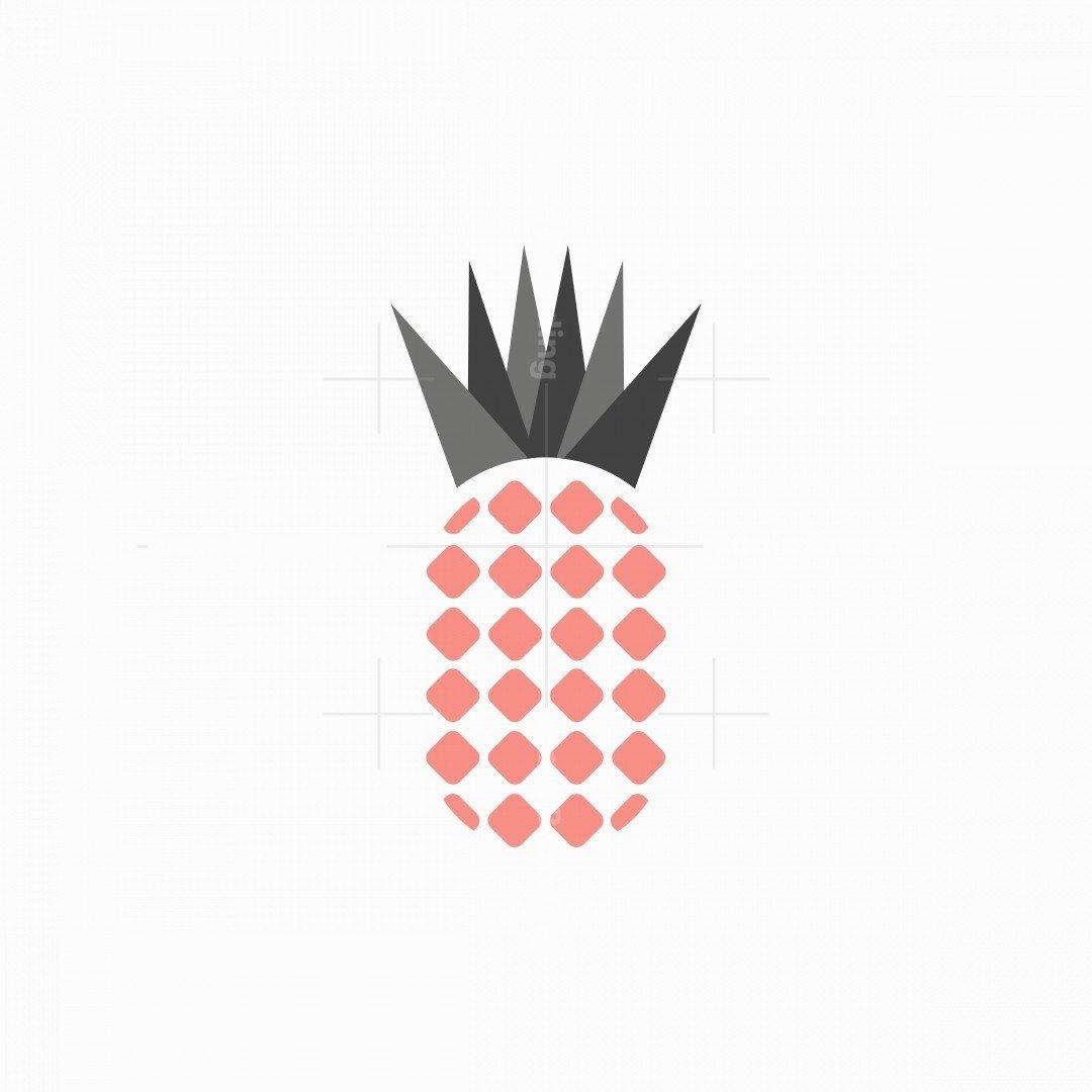 Geometric Pineapple Icon Logo