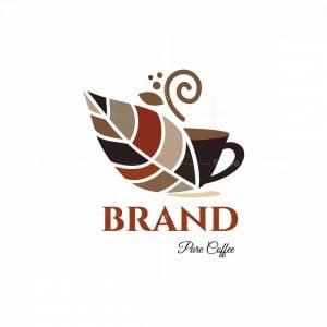 Pure Coffee Symbol Logo