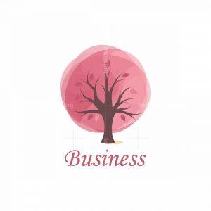 Rosy Bubble Tree Artistic Logo