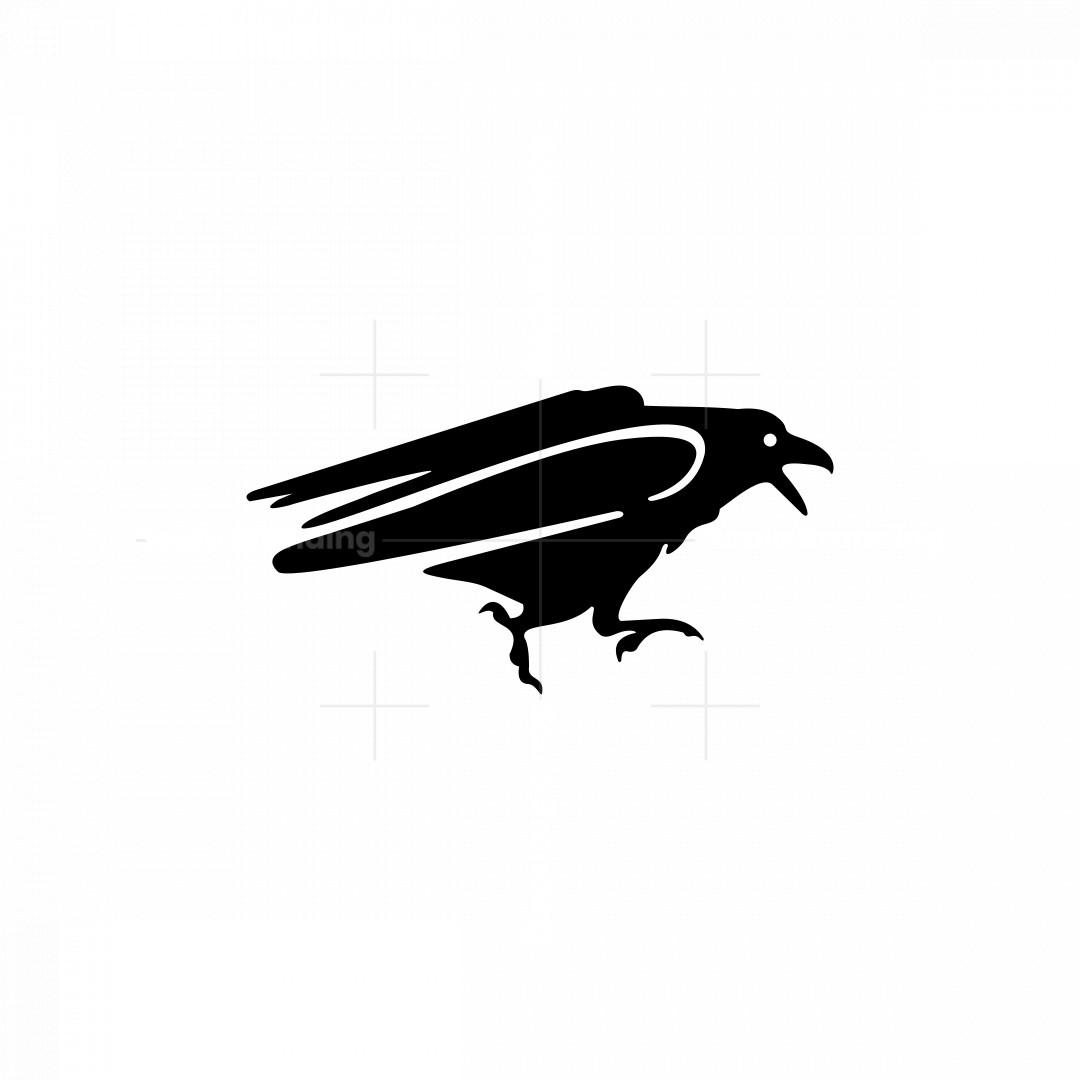 Running Raven Icon Logo