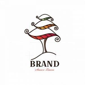 Season Leaves Symbol Logo