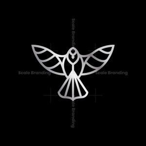 Silver Flying Cardinal Logo