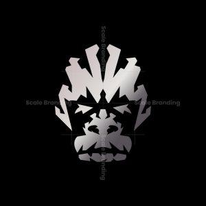Silver Gorilla Head Logo Gorilla Logo