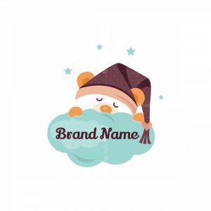 Sleeping Bear Cartoon Logo