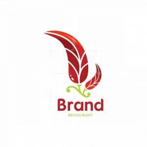 Spicy Leaf Symbol Logo