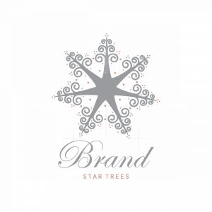 Star Trees Symbol Logo