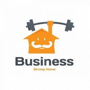 Strong Home Symbol Logo