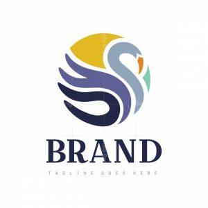 Round Swan Symbol Logo