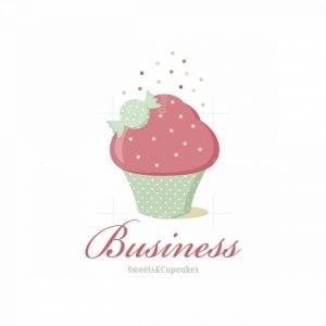 Sweet Cupcake Symbol Logo