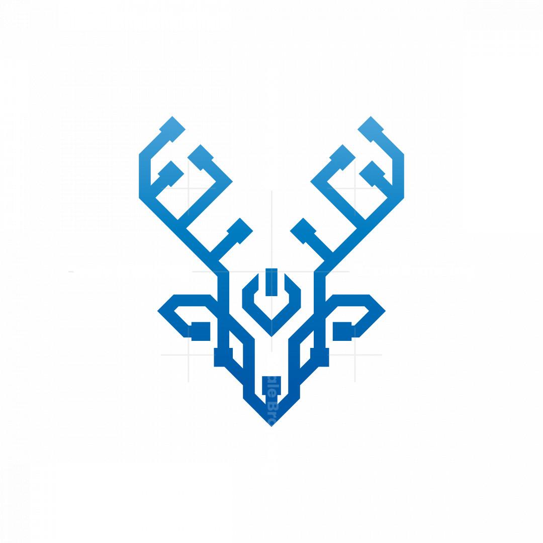 Technology Power Deer Logo