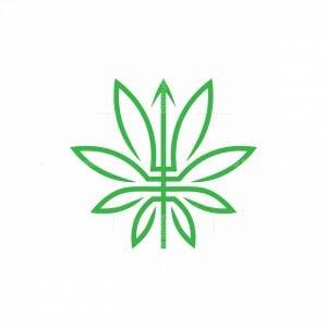Trident Leaf Logo