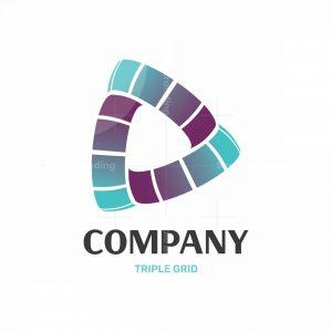 Triple Grid 3d Logo