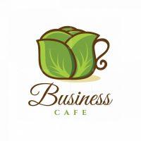 Vegetarian Cafe Symbol Logo