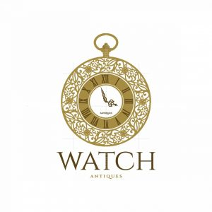 Watch Antiques Symbol Logo