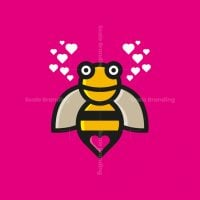 Heart Bee Love Logo