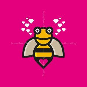 Heart Bee Love Logo