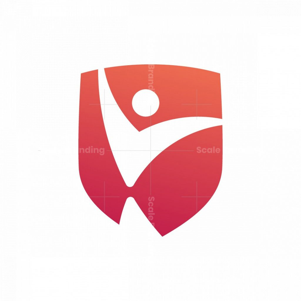 Unique Modern General People In Shield Logo