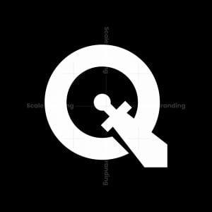 Letter Q Sword Logo