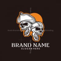 Pirate Viking Skull Logo