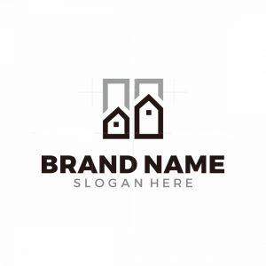 H Letter House Logo
