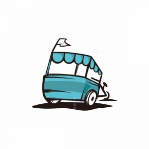 Ice Cream Cart Logo