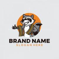 Raccoon Ammo Mascot Logo