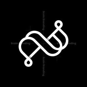 Letter Ab Line Monogram Logo