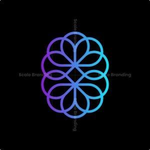 Abstract Artistic Brain Logo