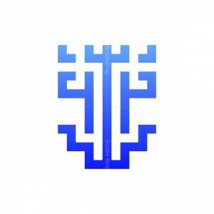 Abstract Modern Anchor Logo