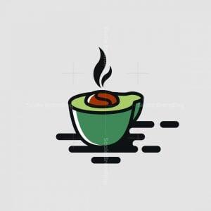 Avocado Coffee Mark Logo