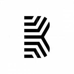 B Zebra Monogram Logo