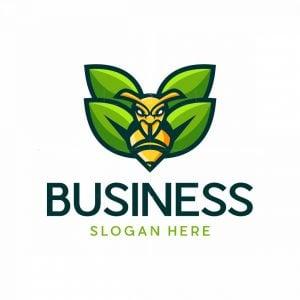 Bee Leaf Illustration Logo