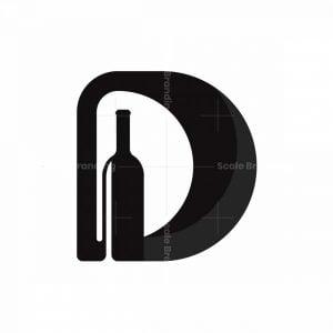 Letter D Bottle Logo