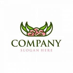 Brain Leaf Nature Logo
