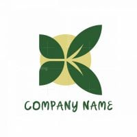 Butterfly Leaf Nature Logo