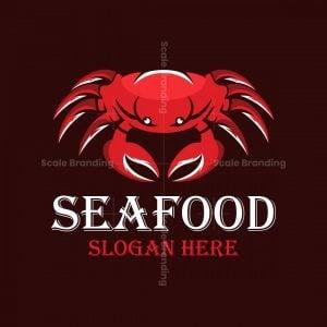 Crab Seafood Illustration Logo