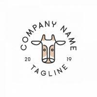 Cow Emblem Logo