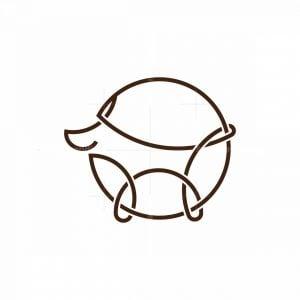 Dog On Leash Monoline Logo
