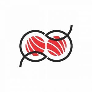 Double Fish Sushi Logo
