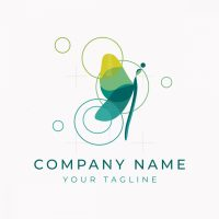Colorful Dragonfly Logo