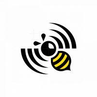 Dynamic Bee Spinning Propeller Wifi Logo