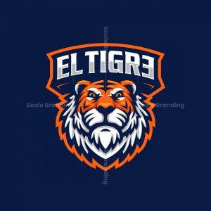 El Tigre Mascot Logo