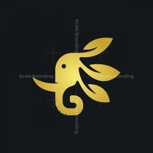 Elephant Gold Nature Logo