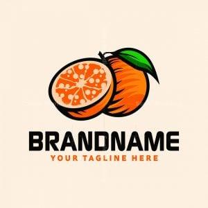 Fresh Orange Fruit Logo