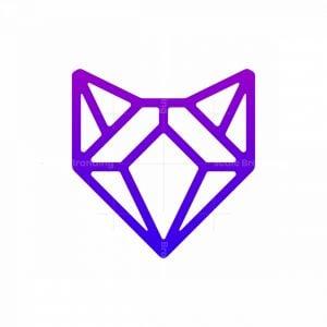 Geometry Wolf Logo