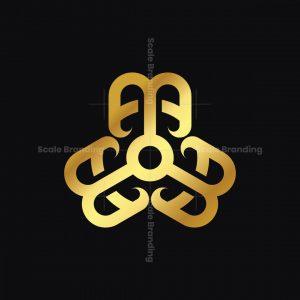Golden Ambigram B Logo