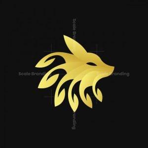 Golden Leaf Fox Logo