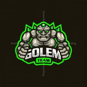 Golem Team Mascot Logo