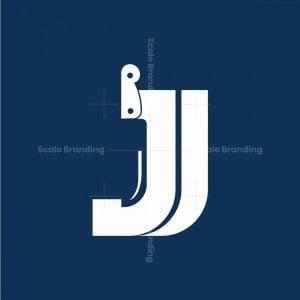 Knife Letter J Logo