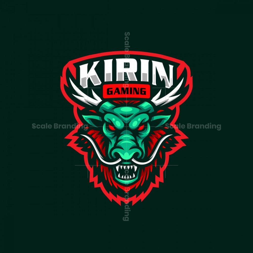 Kirin Dragon Mascot Logo